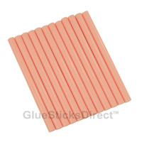 "Pastel Red Colored Glue Sticks mini X 4"" 12 sticks"