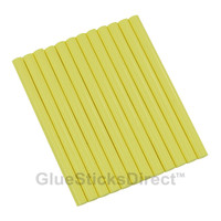 "Pastel Yellow Colored Glue Sticks mini X 4"" 12 sticks"