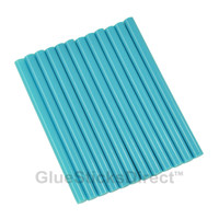 "Neon Blue Colored Glue Sticks mini X 4"" 12 sticks"