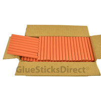 "Burnt Orange Colored Glue Sticks 7/16"" X 4"" 5 lbs"