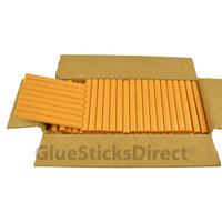 "Golden Rod Colored Glue Sticks 7/16"" X 4"" 5 lbs"