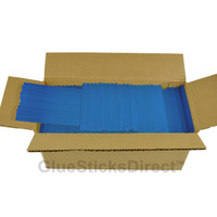 "Translucent Blue Colored Glue Sticks mini X 4"" 5 LBS"