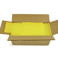 "Translucent Yellow Colored Glue Sticks mini X 4"" 5 lbs"