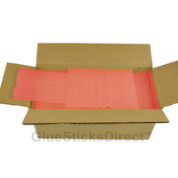 "Translucent Watermelon Colored Glue Sticks mini X 4"" 5 lbs"