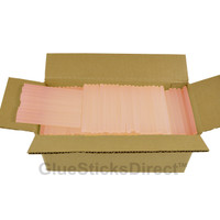 "Translucent Pink Colored Glue Sticks mini X 4"" 5 lbs"
