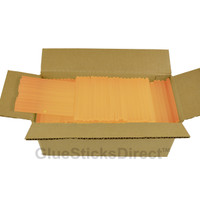 "Translucent Orange Colored Glue Sticks mini X 4"" 5 lbs"