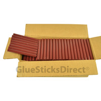 "Burgundy Faux Wax Colored Glue Sticks 7/16"" X 4"" 5 lbs"