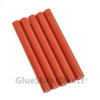 """Red Faux Wax Colored Glue Sticks 7/16"""" X 4"""" 24 count"""