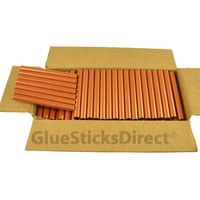 "Copper Metallic Colored Glue Sticks 7/16"" X 4"" 5 lbs"