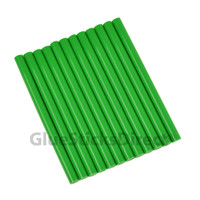"Green Colored Glue Sticks mini X 4"" 12 sticks"