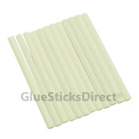 "White Colored Glue Sticks mini X 4"" 12 sticks"