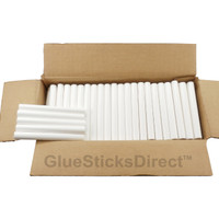 "White Colored Glue Sticks 7/16"" X 4"" 5 lbs"