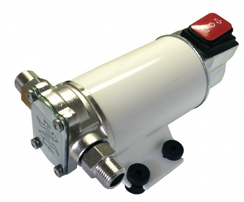 24 volt reversible oil pump with built-in switch and fuse