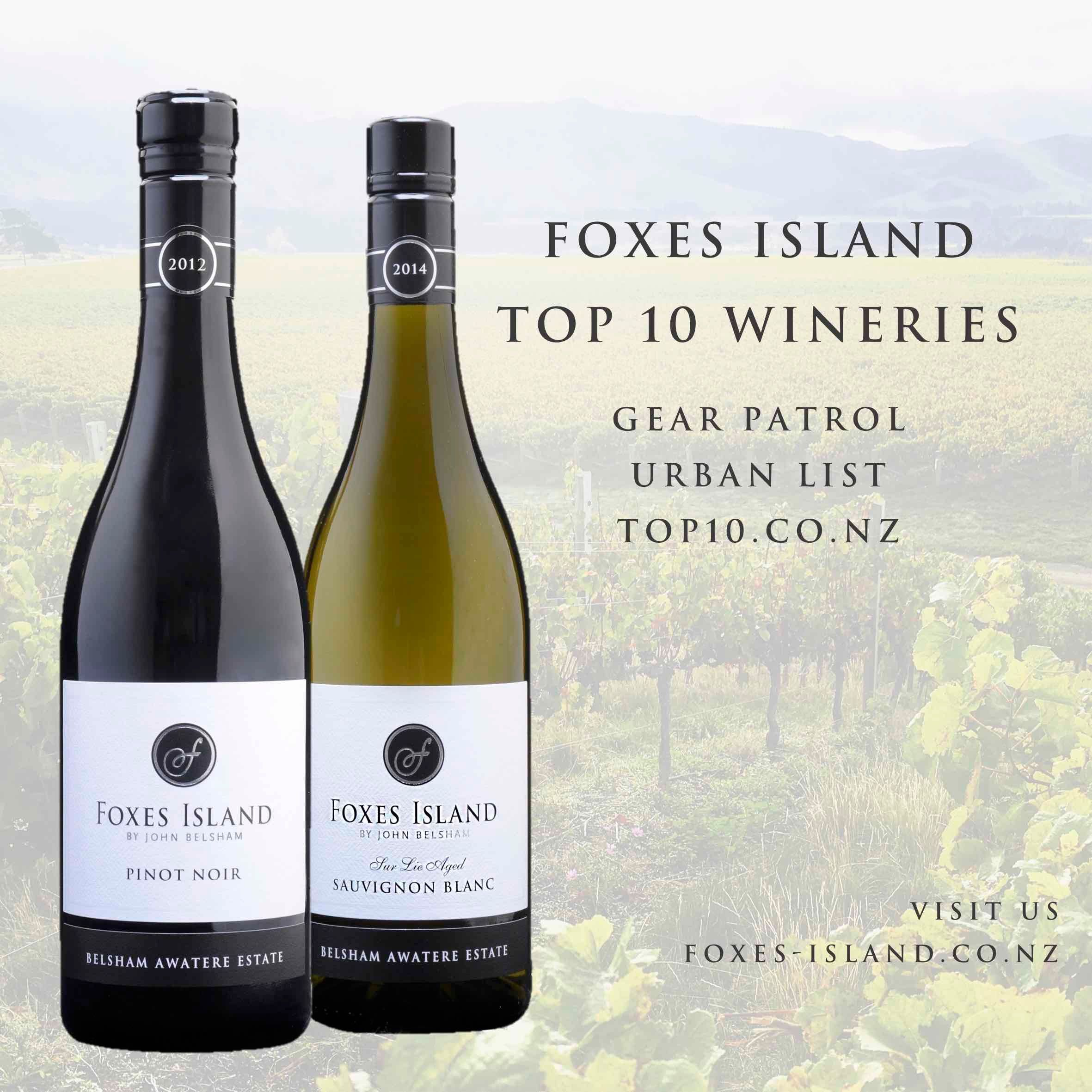 Foxes Island Wines Top 10 Wineries