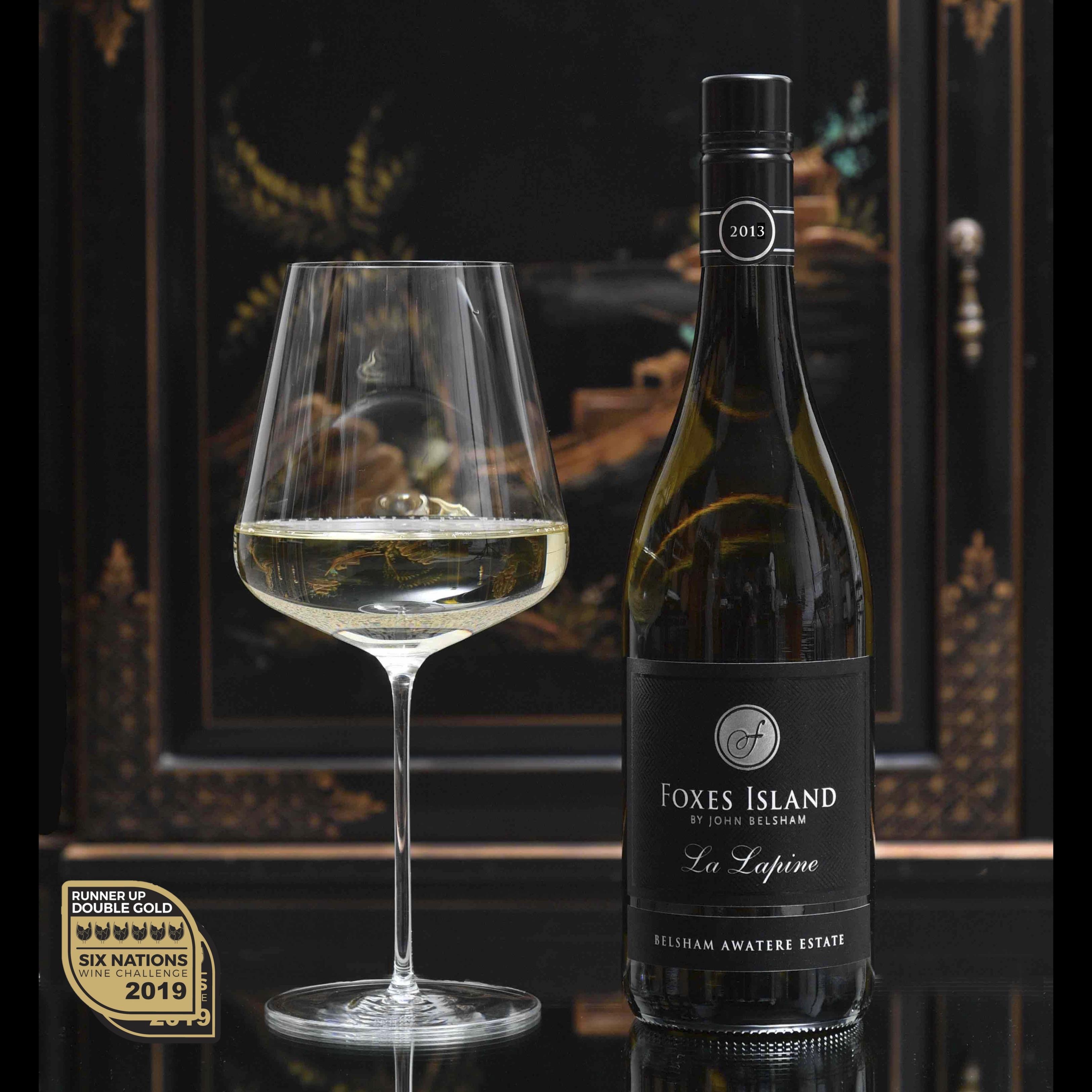Foxes Island La Lapine and Zalto Bordeaux wine glass