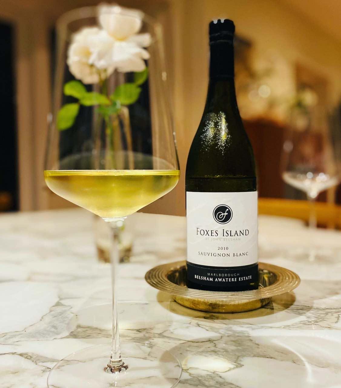 Foxes Island Sauvignon Blanc and Zalto wine glass