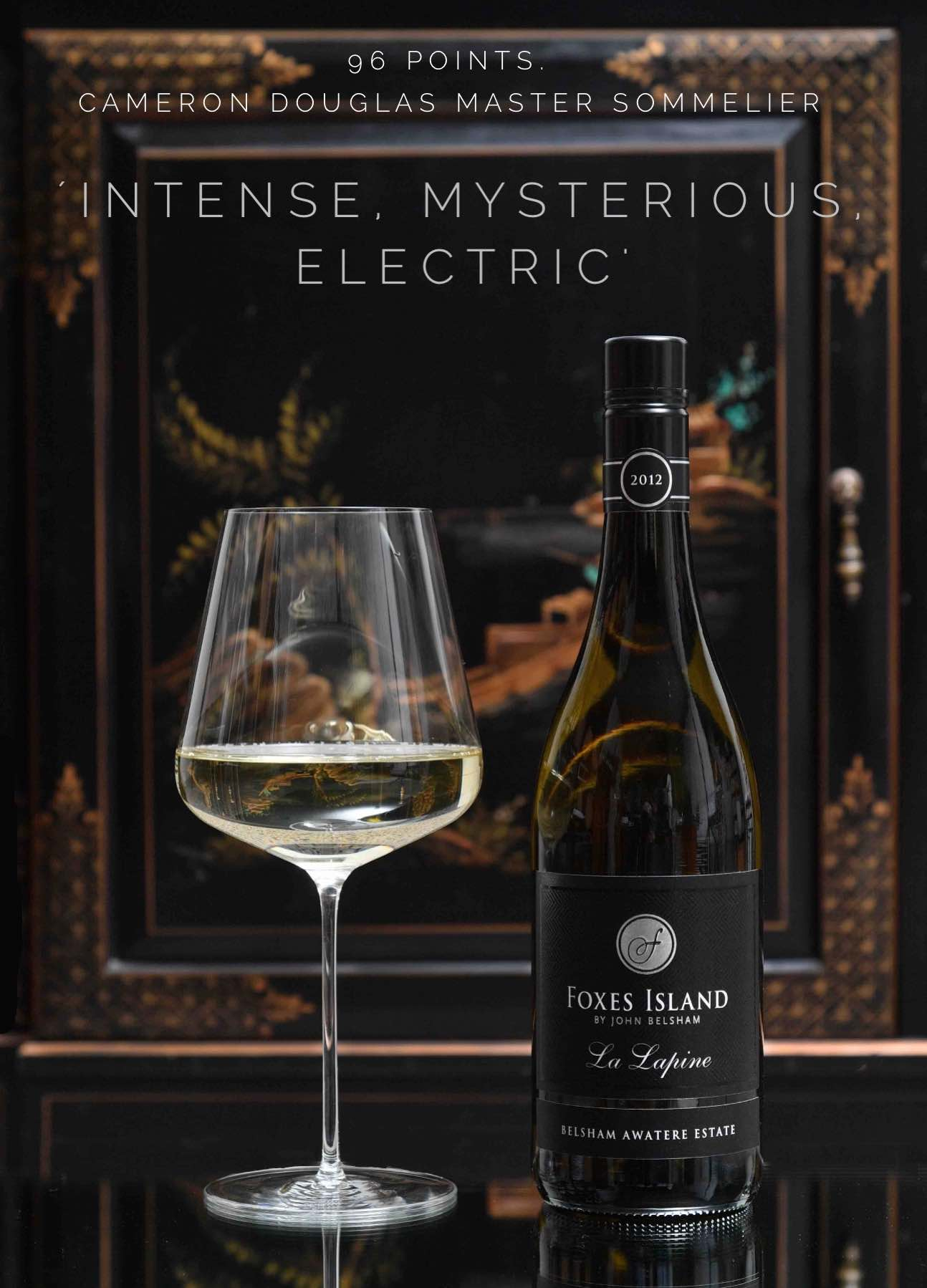 Foxes Island Icon White La Lapine & Zalto Bordeaux Glass