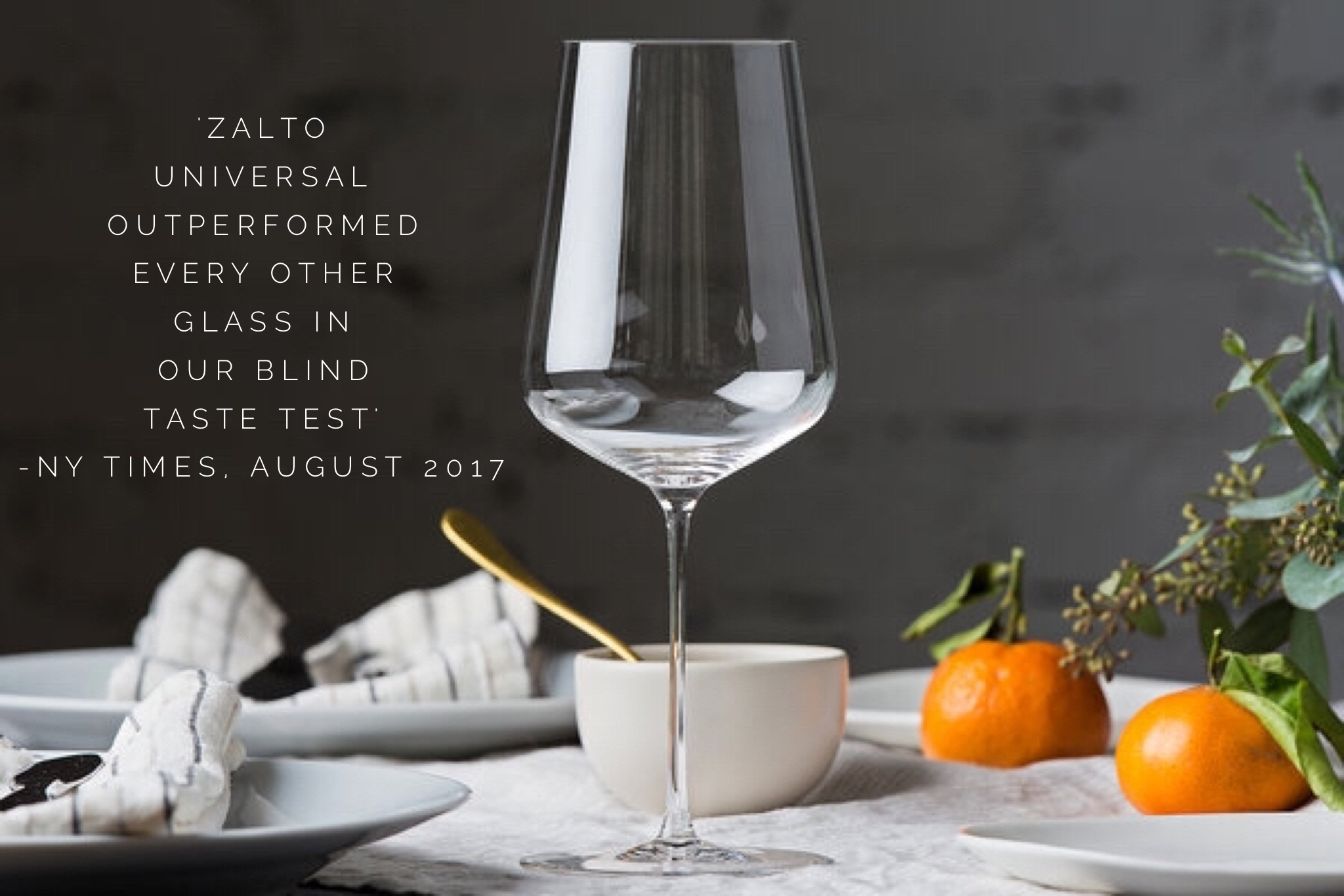 Zalto Universal Glass - NY Times Review