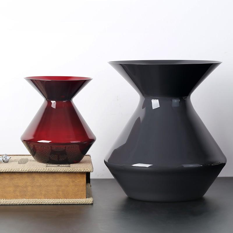 Zalto Crystal Vase Ruby and Grey
