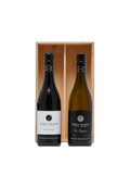 Foxes Island Pinot Noir and La Lapine in a wood gift box