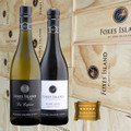 Foxes Island La Lapine and Estate Pinot Noir in a wood gift box