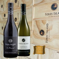 Le Renard Pinot Noir and Chardonnay in a Wood Box
