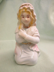 """This is Mary from The Applause Company nativity set.  She is 4.75"""" tall and is in excellent condition."""