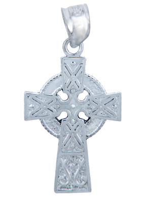 925 Sterling Silver Celtic Cross Small Pendant