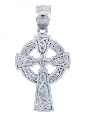 925 Sterling Silver Irish Celtic Claddagh Cross Pendant