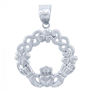 925 Sterling Silver Claddagh Pendant