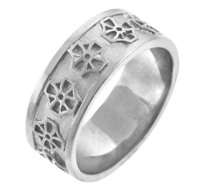 925 Sterling Silver Celtic Band Cross Ring