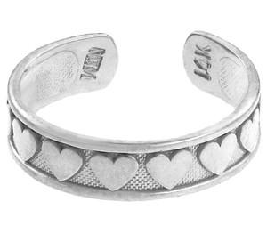 Classt Heart Silver Toe Ring