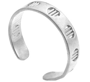 925 Sterling Silver Bar Toe Ring