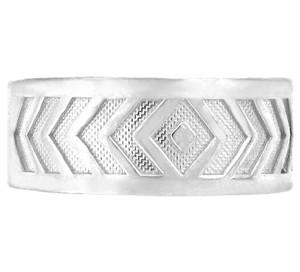 925 Sterling Silver Chevron Toe Ring