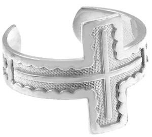 925 Sterling Silver Cross Toe Ring