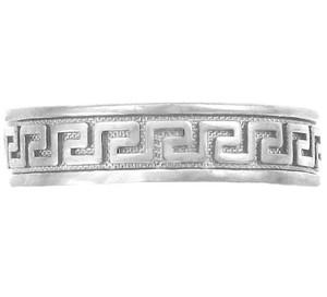 925 Sterling Silver Greek Key Toe Ring
