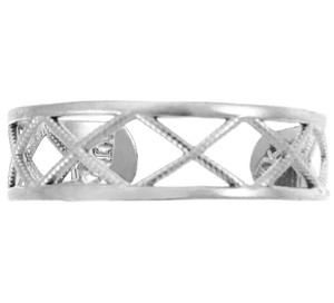 925 Sterling Silver X Toe Ring