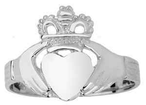 Silver Claddagh Ladies Ring Classic