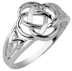 Sterling Silver Trinity Ladies Ring