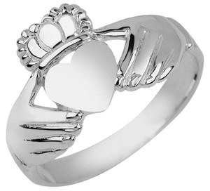 Silver Irish Claddagh Ladies Ring