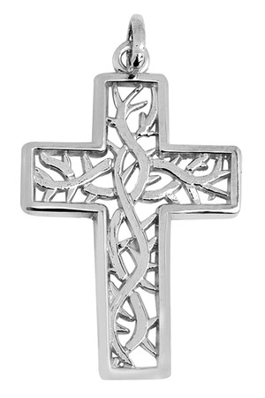 Silver Celtic Irish Trinity Cross Pendant