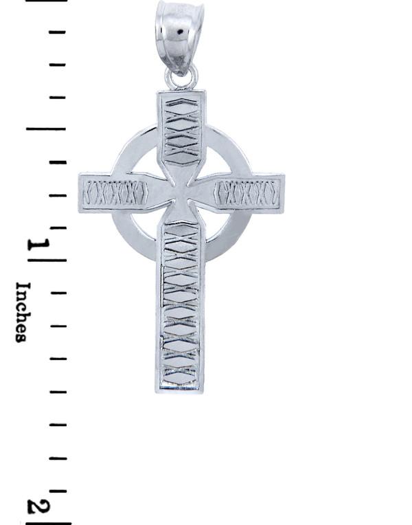 925 Sterling Silver Irish Celtic Cross Pendant