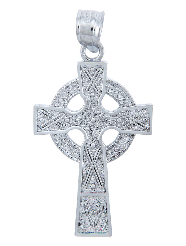 925 Sterling Silver Celtic Cross Pendant
