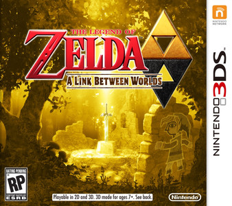 *USED* 3DS ZELDA LINK BETWEEN WORLDS (#045496742539)
