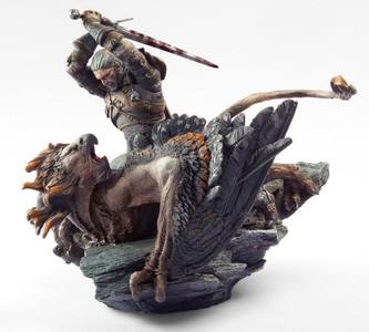 *USED* GERALT BATTLING A GRIFFITH STATUE  (#451423047675)