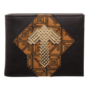 MINECRAFT PICKAXE BIFOLD WALLET (#190371942594)