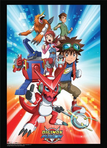 DIGIMON FUSION GROUP WALL SCROLL (#699858608966)