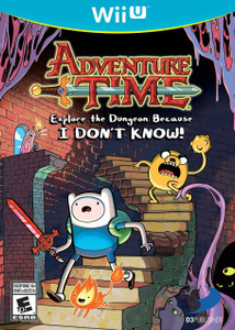 *USED* WiiU ADVENTURE TIME EXPLORE THE DUNGEON BECAUSE (#879278005112)