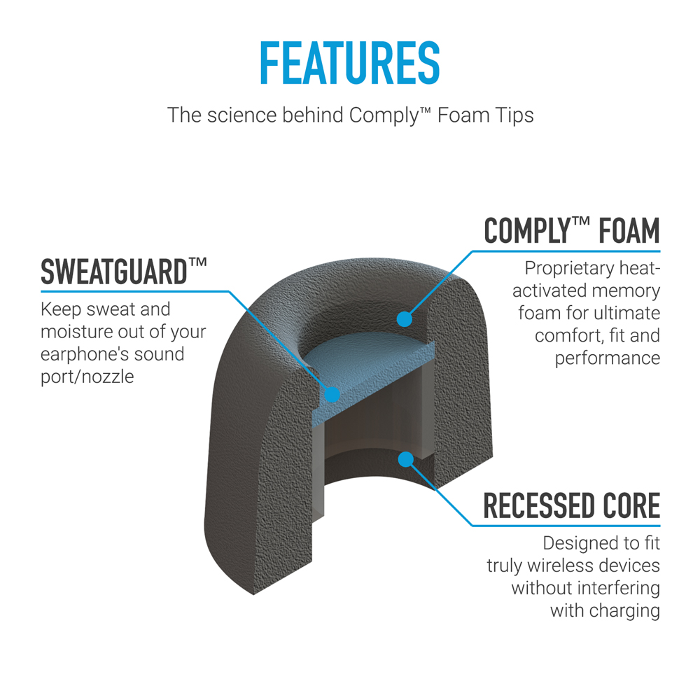 TrueGrip Pro Comply tip features