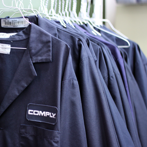 comply lab coat